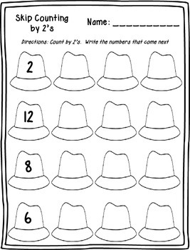 Skip Counting by 2's Printables