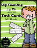 Skip Counting by 2s (within 100) Task Cards