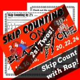 Skip Counting by 2s Worksheet for Multiplication with Skip