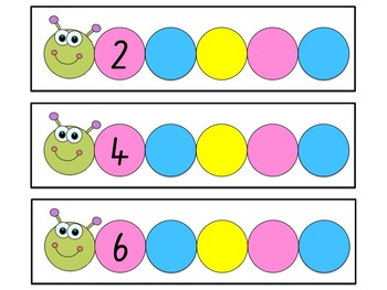 Skip Counting by 2s Write and Wipe Cards