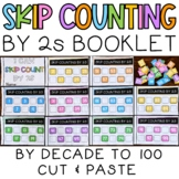 Skip Counting by 2s to 100 by Decade Cut & Paste Booklet Activity