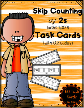Skip Counting by 2s (within 1,000) Task Cards
