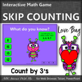 Skip Counting by 3 Interactive Math Game {Love Bug}