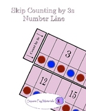 Skip Counting by 3s - Number Line for Visual and Kinesthetic Learners