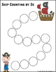 Skip Counting by 3s Worksheets - Paths, Mazes & Puzzles
