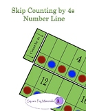 Skip Counting by 4s - Number Line for Visual and Kinesthet