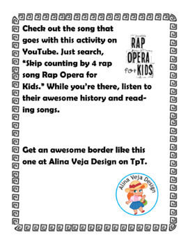 Skip Counting by 4s Worksheet & Song - Skip Counting Worksheets Multiplication