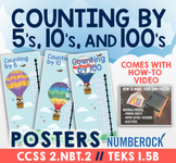 Skip Counting by 5, 10, & 100 Activity ★ Skip Counting Posters ★ 2.NBT.2 & 1.5B