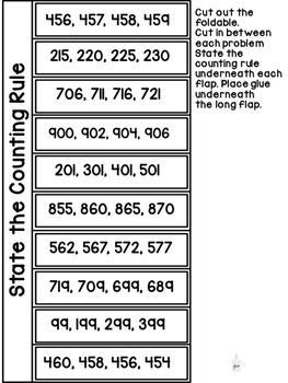 Skip Counting by 5, 10, and 100 FOLDABLES