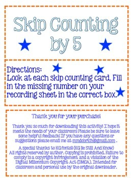 Skip Counting by 5  (2.NBT.A.2)