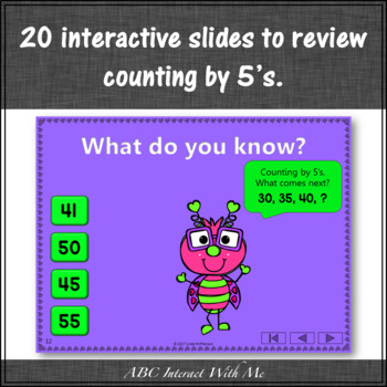 Skip Counting by 5 Interactive Math Game {Love Bug}