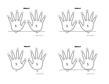 Skip-Counting by 5 and 10 handprints! Smaller versions for student desks.