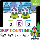 Skip Counting by 5 (numbers to 50) Math Google Slide Digit
