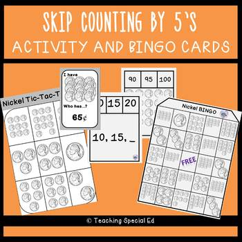 Skip Counting by 5's - Activities and Games only - BUNDLE