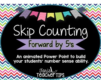 Skip Counting by 5's~ Animated Power Point