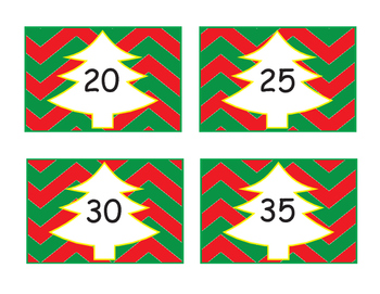 Skip Counting by 5's * Christmas Tree theme!