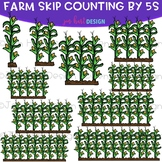Skip Counting by 5s & 10s Clip Art - Farm Skip Counting {j