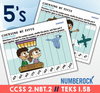 Skip Counting Number Puzzles ★ Skip Counting Puzzles ★ Fun 2.NBT.2 Worksheets