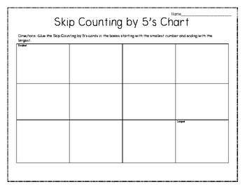 Skip Counting by 5's, 10's and 100's up to 1,000