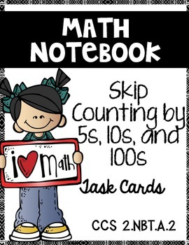 Skip Counting by 5s, 10s, and 100s up to 1,000:  Math Note