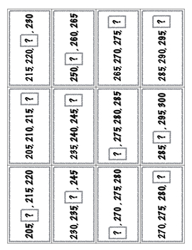 Skip Counting by 5s Bingo