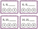 Skip Counting by 5's Clothespin Task Cards