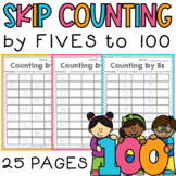 Skip Counting Worksheets by 5 - Differentiated / Scaffolded / RTI