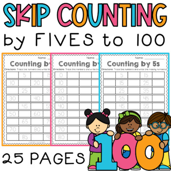 Skip Counting by 5s - Number Trace & Fill - Differentiated