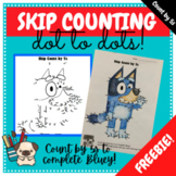 Skip Counting by 5s Dot to Dot Worksheet - Freebie - Bluey