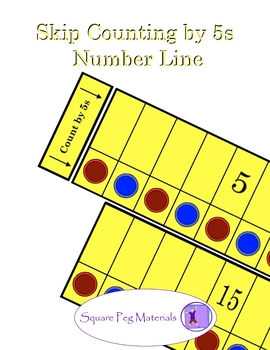 Skip Counting by 5s - Number Line for Visual and Kinesthetic Learners