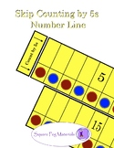 Skip Counting by 5s - Number Line for Visual and Kinesthet