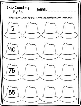 Skip Counting by 5's Printables