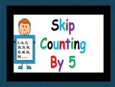 Skip Counting by 5s Using Number Line, Hundreds Chart, Money  and Clocks