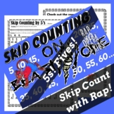 Skip Counting by 5s Rap Song with Skip Counting Worksheet for Multiplication