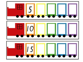 Skip Counting by 5s Write and Wipe Cards