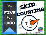 Skip Counting by 5s and 10s Snowmen Theme