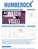 Skip Counting by 6: Worksheets, Quiz, & Music Video