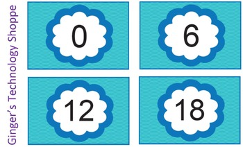 Skip Counting by 6's * Blue Wave theme!