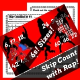 Skip Counting by 6s Worksheet for Multiplication with Skip
