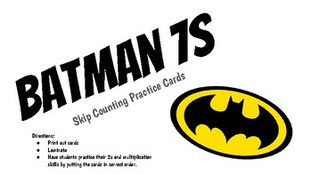 Skip Counting by 7s - Batman