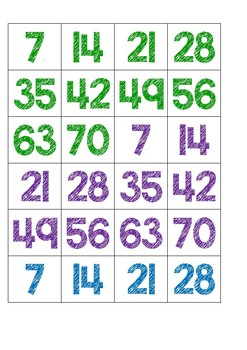 Skip Counting by 7s Game
