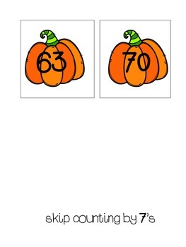 Skip Counting by 7s Pumpkins!