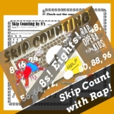 Skip Counting by 8s Worksheet for Multiplication with Skip
