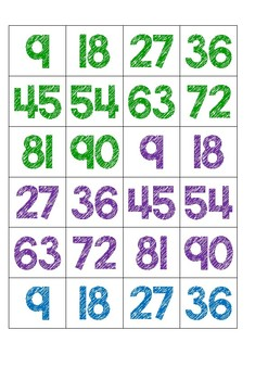 Skip Counting by 9s Game