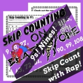 Skip Counting by 9s Rap Song with Skip Counting Worksheet for Multiplication