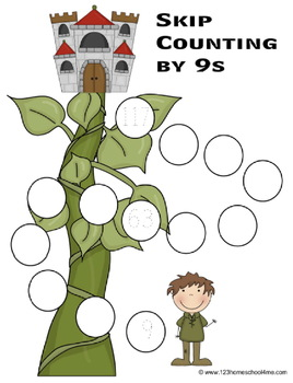 Skip Counting by 9s Worksheets - Paths, Mazes & Puzzles