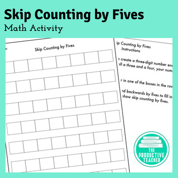 Skip Counting by Fives: Math Activity