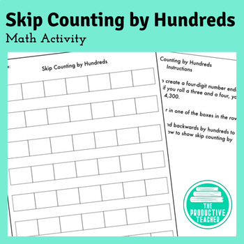 Skip Counting by Hundreds: Math Activity