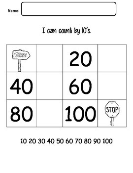 Skip Counting by Tens