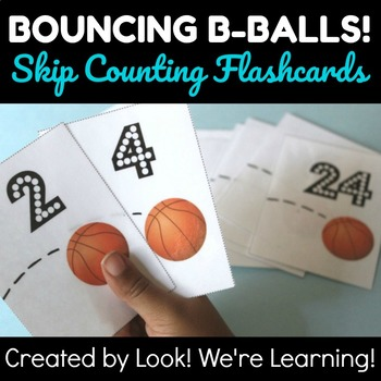 Skip Counting by Two Flashcards - Bouncing B-Ball!